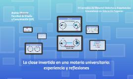 La clase invertida en una materia universitaria: experiencia y reflexiones