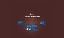 Peace or Power?