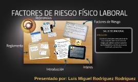 FACTORES DE RIESGO FÍSICO LABORAL