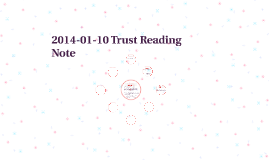 2014-01-10 Trust Reading note