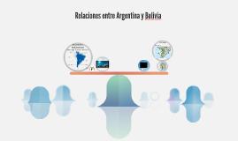 Relaciones entre Argentina y Bolivia