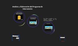 Análusis y Elaboración del Programa de Intervención