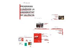 PROGRAMA CONÈIXER LA UNIVERSITAT DE VALÈNCIA