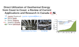 Direct Utilization of Geothermal Energy from Coast to Coast: