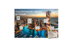 Copy of Transformación urbana de Dubái