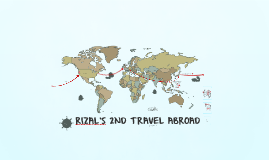 Rizal's 2nd Travel Abroad
