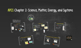 Copy of Buford APES Chapter 2: Science, Matter, Energy, and Systems