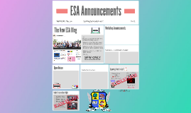 ESA Announcements