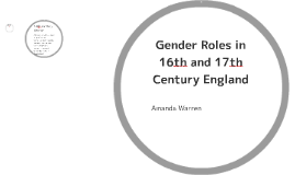 gender roles in th and th century england by amanda warren on  gender roles in 16th and 17th century en