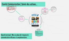 Comité Communication (RN juin) Suivis des actions
