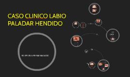 CASO CLINICO LABIO PALADAR HENDIDO