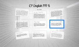 CP English III B
