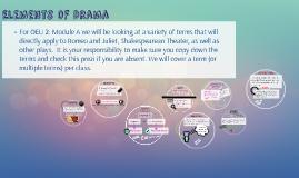 Elements of Drama