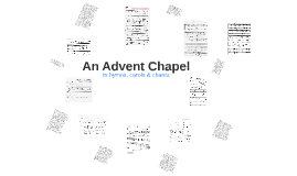 An Advent Chapel 2014