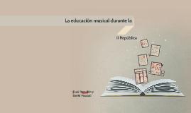 La educacion musical durante la II Republica
