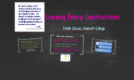 Learning Theory: Constructivism