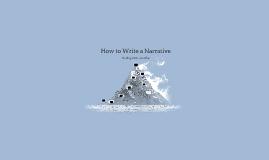 How to Write a Narrative