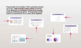 """Presentación de resultados y proyecto """"Protagonismo social j"""