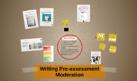 Term 4 Writing Pre-test Moderation