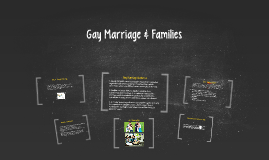 Gay Marriage & Families
