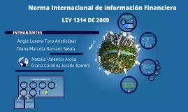 Copy of LEY 1314 DE 2009