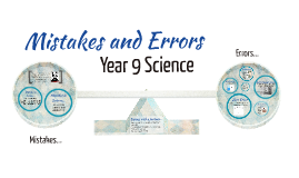 Year 9 Science- Mistakes & Errors