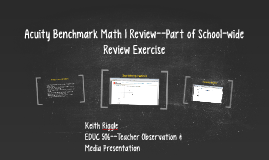Acuity Benchmark Math 1 Review