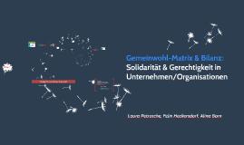Gemeinwohl-Matrix & Bilanz: Solidarität & Menschenwürde