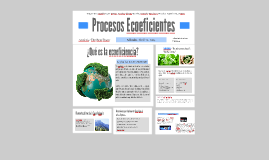 Copy of Procesos Ecoeficientes
