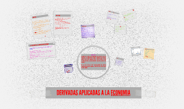 Copy of DERIVADAS APLICADAS A LA ECONOMIA