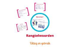 Copy of Rangtelwoorden en Hoofdtelwoorden