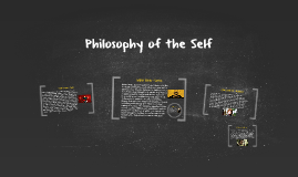 Philosophy of the Self