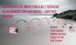 REGLAMENTO DE OBRAS PUBLICAS Y SERVICIOS RELACIONADOS CON LA
