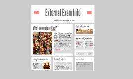 External Exam Info