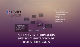 ACCESO A LA INFORMACIÓN PÚBLICA Y PROTECCIÓN DE DATOS PERSON