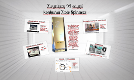 Zwycięzcy XI edycji konkursu Złote Spinacze