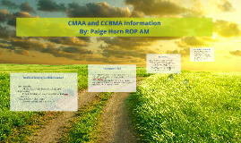 Copy of CMAA and CCBMA Information