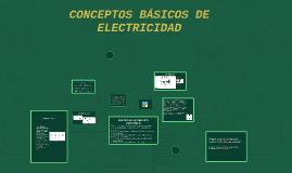 CONCEPTOS BÁSICOS DE ELECTRICIDAD Y