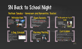 5N Back to School Night