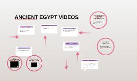 ANCIENT EGYPT VIDEOS