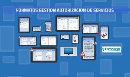 FORMATOS GESTION AUTORIZACION DE SERVICIOS