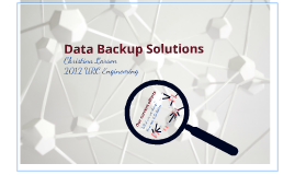 Copy of Data Backup Solutions