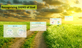 Recognising Signs of God