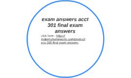 acct 301 final exam