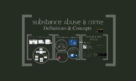 Substance Abuse & Crime: DEFINITIONS AND CONCEPTS