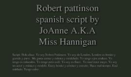 robert pattinson spanish
