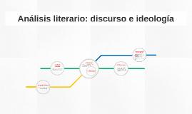 Análisis literario: discurso e ideología