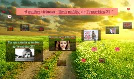 A verdade que liberta a mulher- uma análise de Provérbios 31