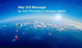 2015 SGI President Daisaku Ikeda's May 3 Message