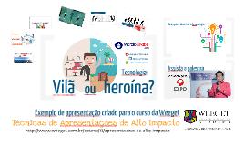 Tecnologia - Vilã ou Heroína - Exemplo Weeget